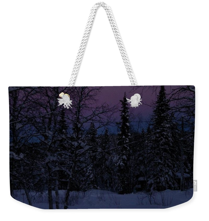 Lappland Weekender Tote Bag featuring the photograph Indigo by Maria Joy