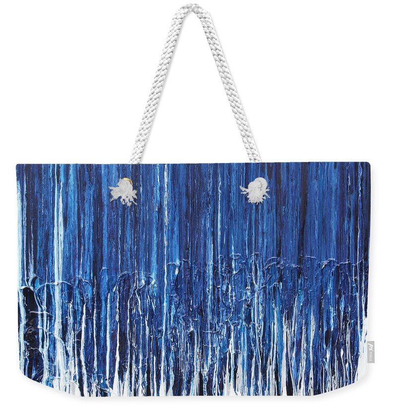 Fusionart Weekender Tote Bag featuring the painting Indigo Soul by Ralph White
