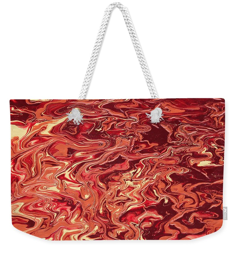Fusionart Weekender Tote Bag featuring the painting Indulgence by Ralph White