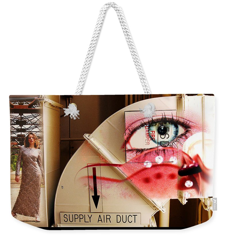 Weekender Tote Bag featuring the photograph Industrial Ceiling Dreams by Clayton Bruster
