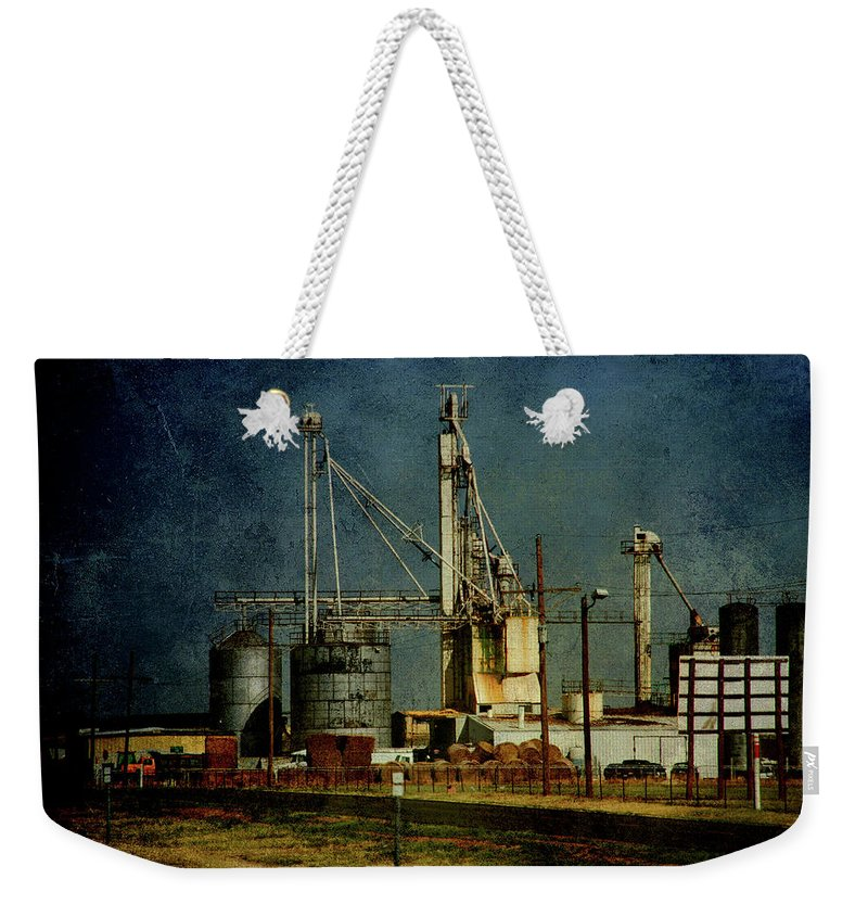 Farm Weekender Tote Bag featuring the photograph Industrial Farming In Texas by Susanne Van Hulst