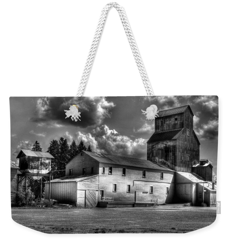 Industrial Landscape In Black And White Weekender Tote Bag featuring the photograph Industrial Landscape In Black And White 1 by Lee Santa