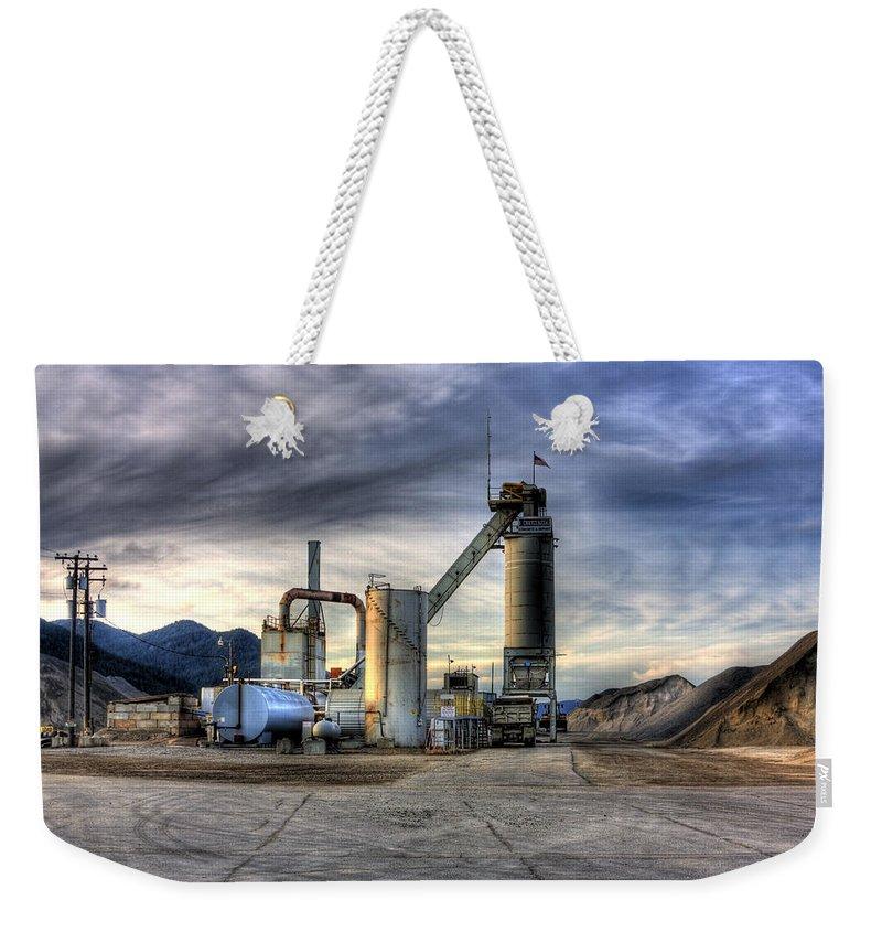 Industrial Landscape Weekender Tote Bag featuring the photograph Industrial Landscape Study Number 1 by Lee Santa
