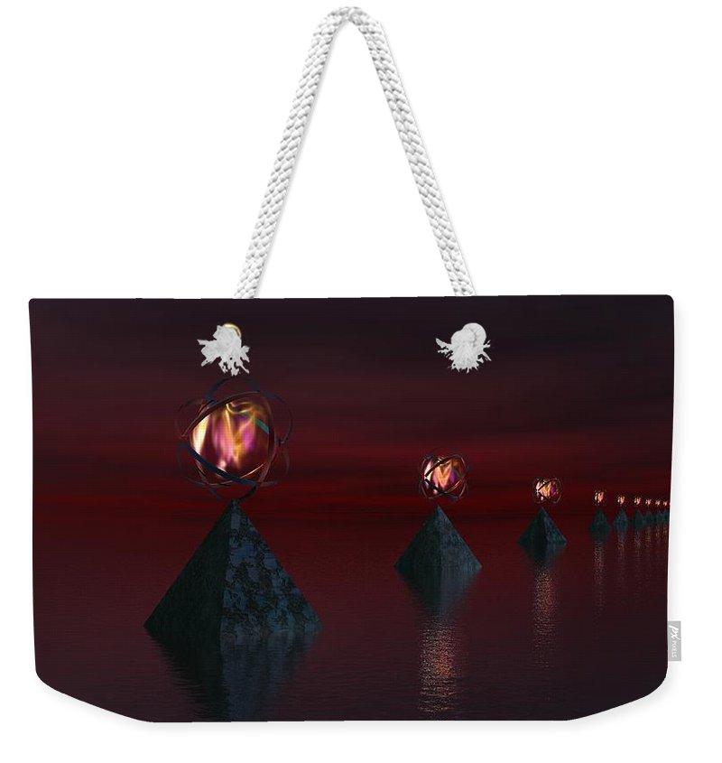 Fine Art Weekender Tote Bag featuring the digital art Infinate Hope by David Lane