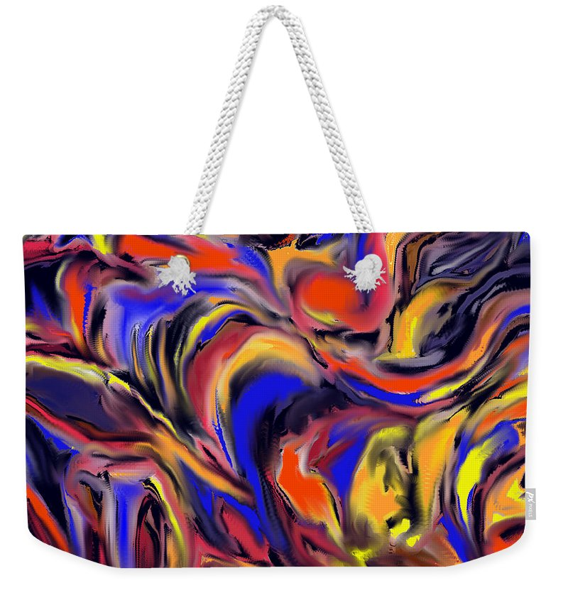 Abstract Weekender Tote Bag featuring the digital art Infinit Complexity Four by Ian MacDonald