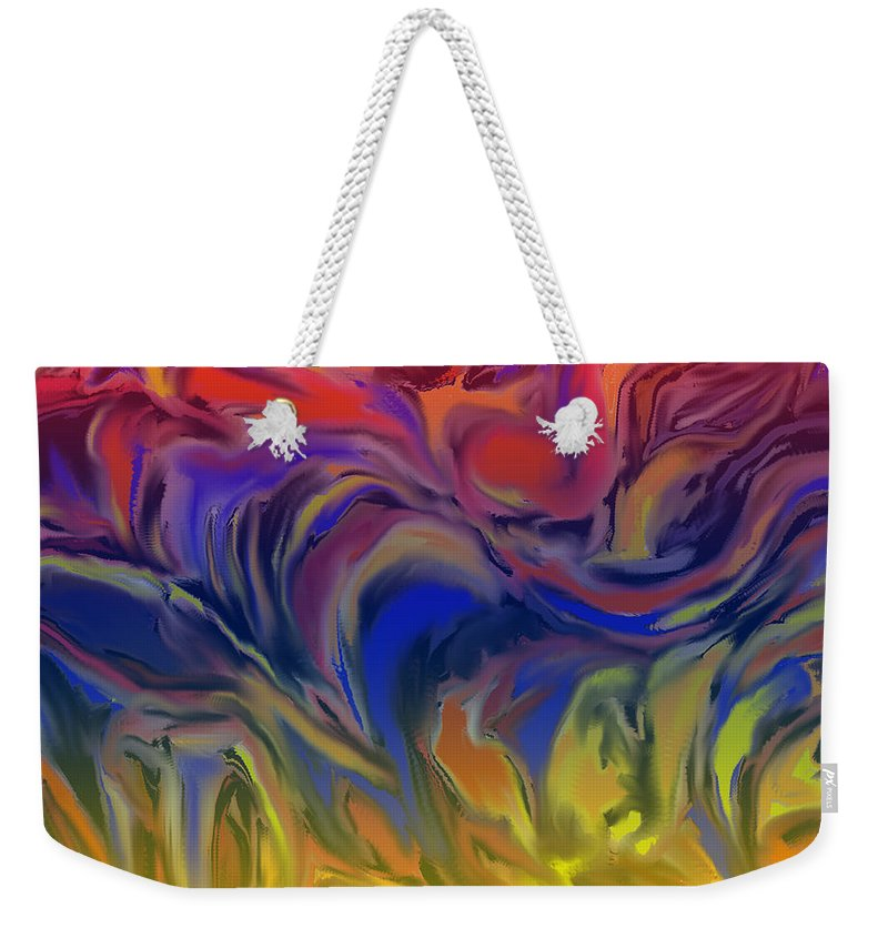 Weekender Tote Bag featuring the digital art Infinite Complexity Six by Ian MacDonald