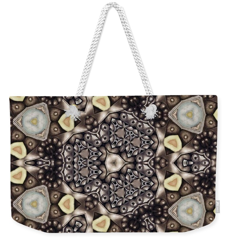 Kaleidoscope Weekender Tote Bag featuring the mixed media Infinite Torus by Laurie's Intuitive