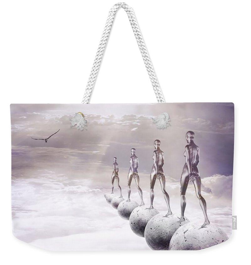 Surreal Weekender Tote Bag featuring the digital art Infinity by Jacky Gerritsen