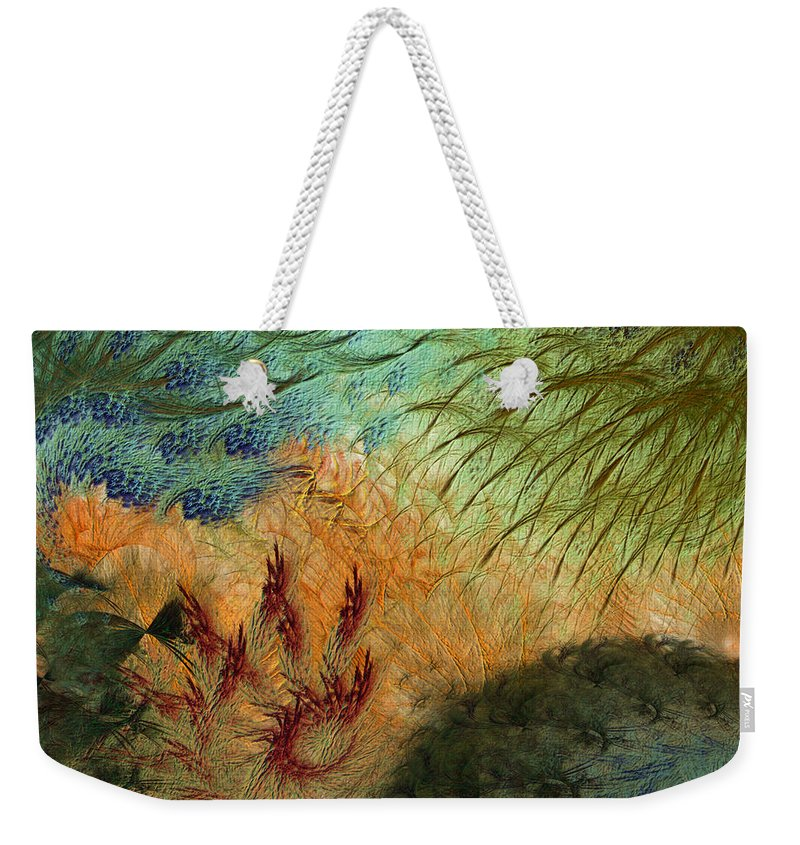 Abstract Weekender Tote Bag featuring the digital art Inflammation by Casey Kotas