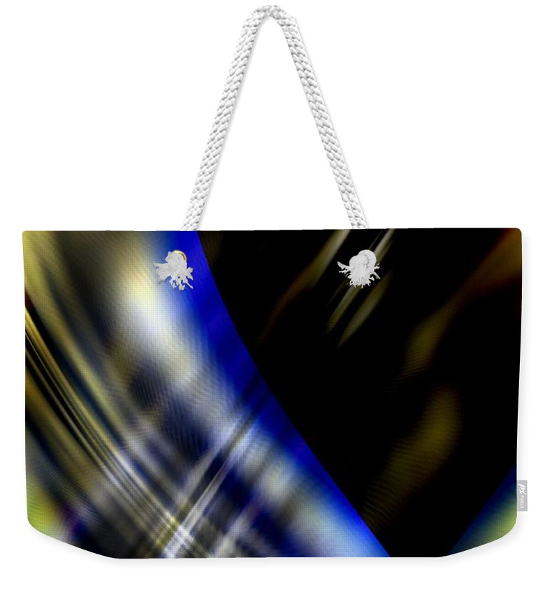 Abstractions Abstract Modern Contemporary Alien Spiritual Love Death Otherworlds Timetravel Weekender Tote Bag featuring the digital art Influx by Salvatore Sgroi