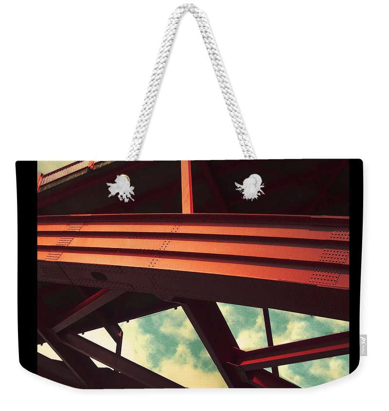 Bridge Weekender Tote Bag featuring the photograph Infrastructure by Tim Nyberg