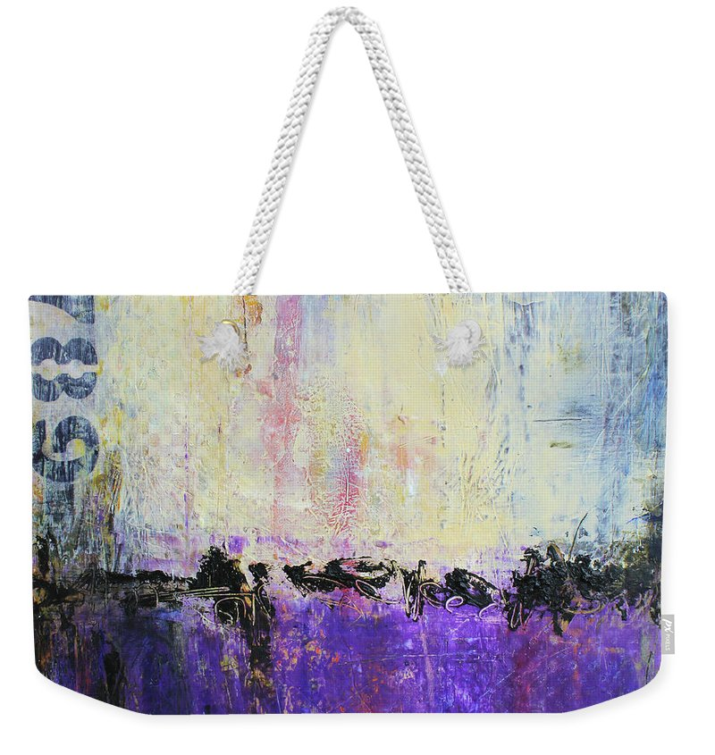 Urban Art Weekender Tote Bag featuring the mixed media Inner City Blues by Patricia Lintner