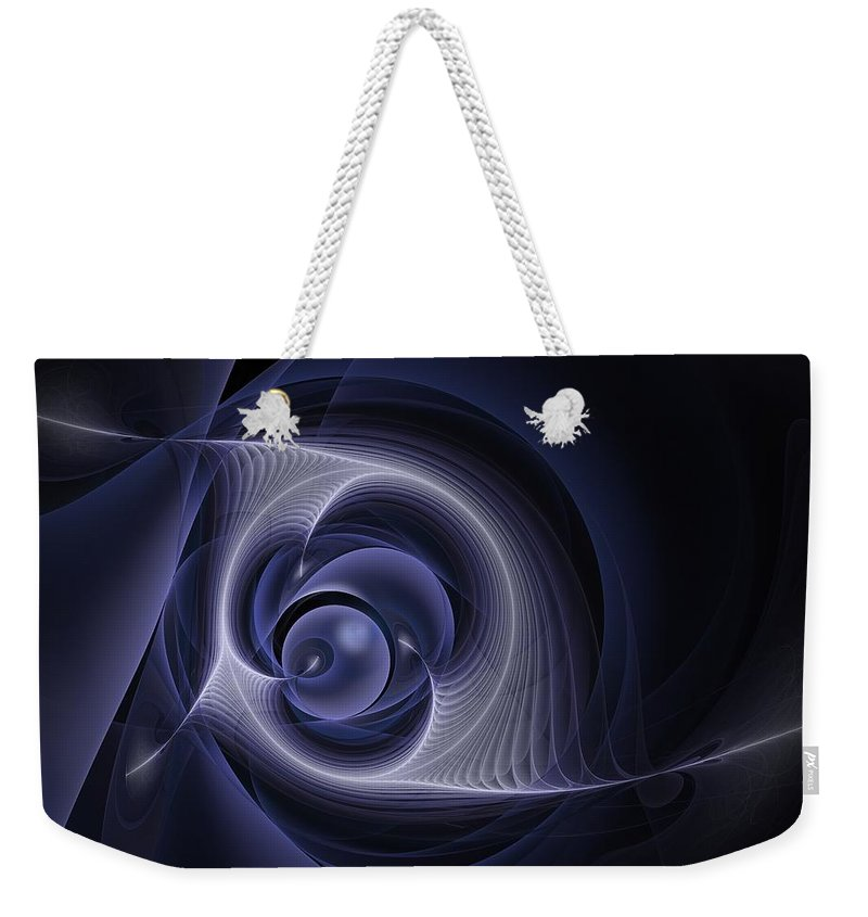 inner Cohesion Weekender Tote Bag featuring the digital art Inner Cohesion by Georgiana Romanovna