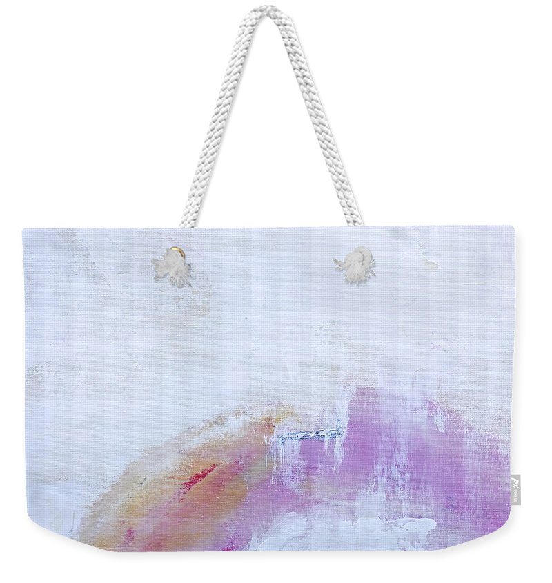 Abstract Weekender Tote Bag featuring the painting Inner Peace by Dick Bourgault