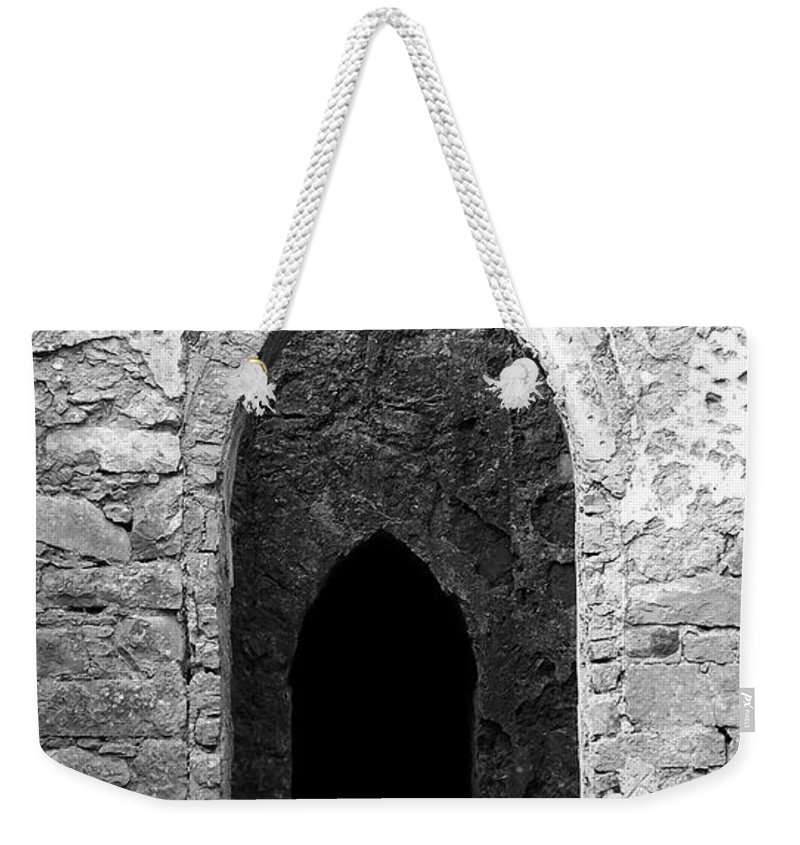 Ireland Weekender Tote Bag featuring the photograph Inner Sanctum Fuerty Church Roscommon Ireland by Teresa Mucha