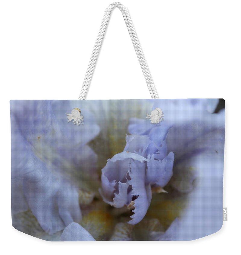 Flower Weekender Tote Bag featuring the photograph Inner Workings by Alexis Ketner
