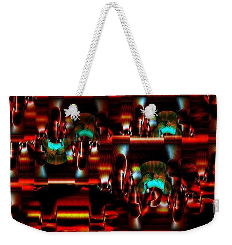 Abstract Weekender Tote Bag featuring the photograph Inner Workings by Ron Bissett
