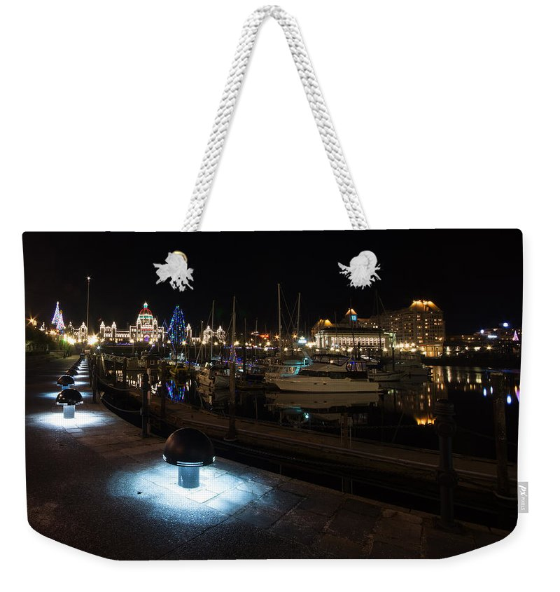 Harbour Weekender Tote Bag featuring the photograph Inner Harbour by Marilyn Wilson