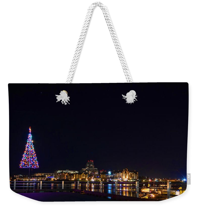 Harbour Weekender Tote Bag featuring the photograph Inner Harbour Of Victoria Bc - 3 by Marilyn Wilson