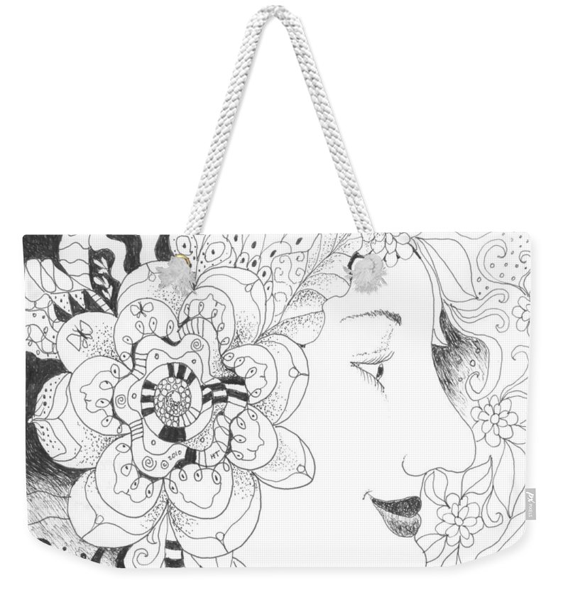 Life Weekender Tote Bag featuring the drawing Innocence And Experience by Helena Tiainen