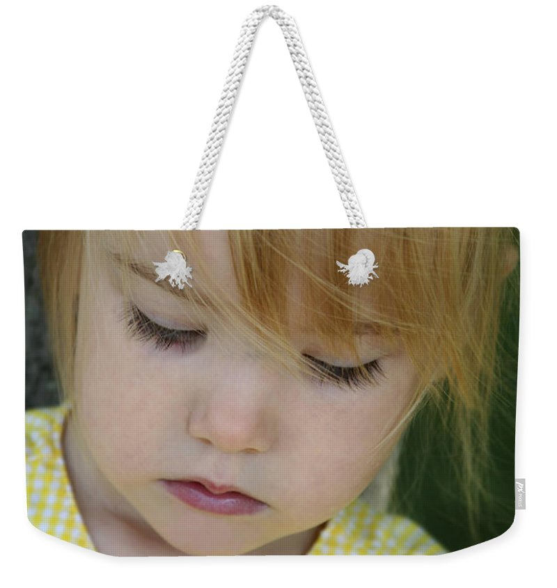 Angelic Weekender Tote Bag featuring the photograph Innocence II by Margie Wildblood