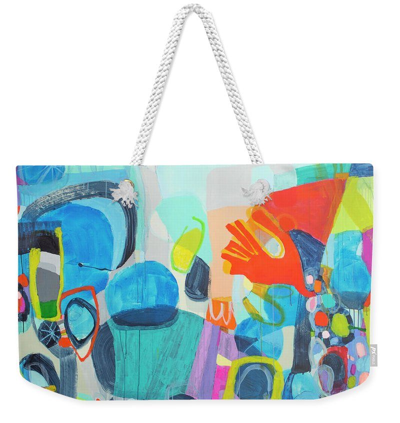 Abstract Weekender Tote Bag featuring the painting Insatiable by Claire Desjardins