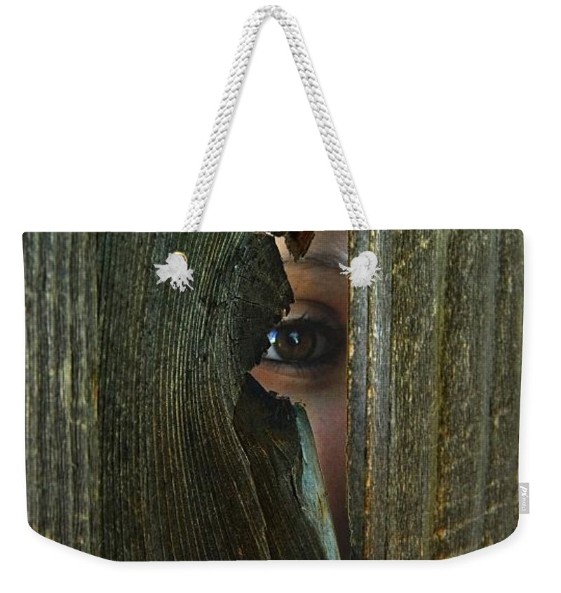 Surreal Weekender Tote Bag featuring the photograph Insecure by Dawn Marshall