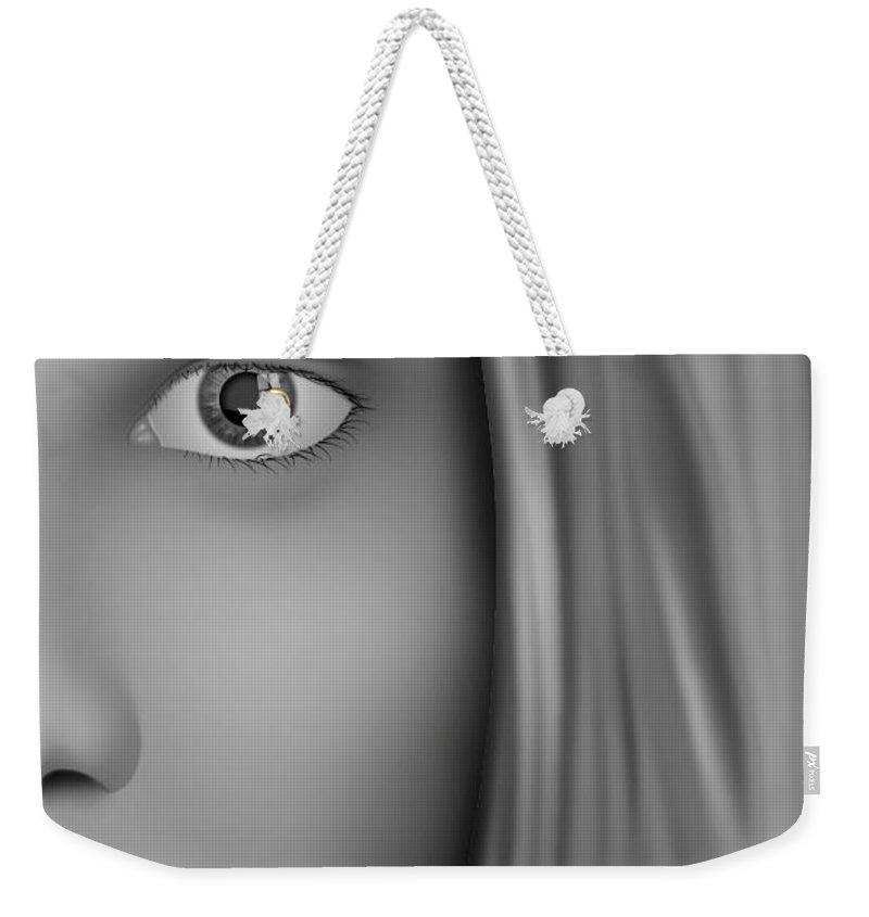 Inside Weekender Tote Bag featuring the digital art Inside by Christopher Spicer