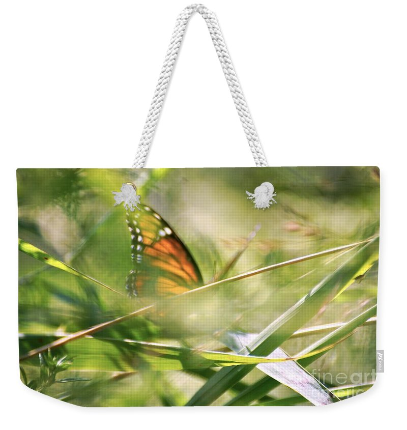Butterfly Weekender Tote Bag featuring the photograph Inside by Merle Grenz