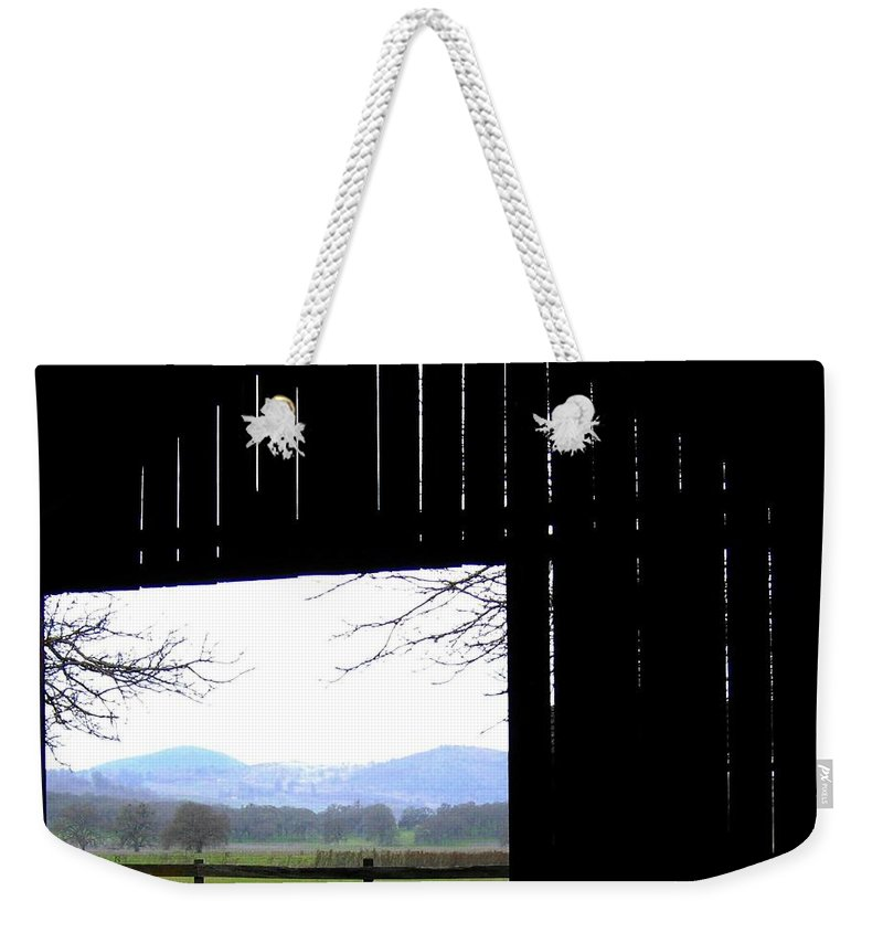 Barn Weekender Tote Bag featuring the photograph Inside Out by Will Borden