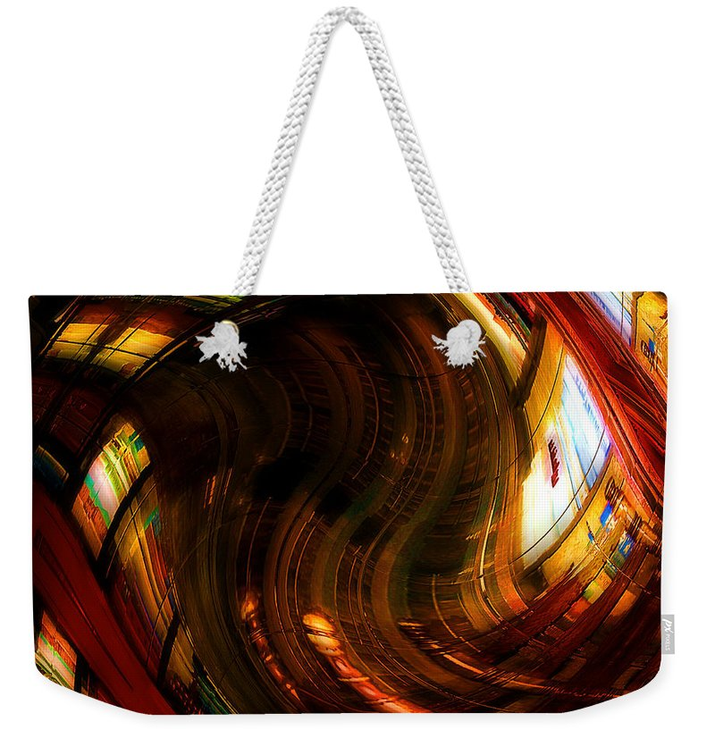 Books Weekender Tote Bag featuring the digital art Inside The Magick Book Shop by RC DeWinter