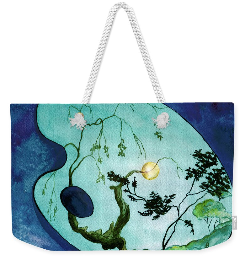Watercolor Weekender Tote Bag featuring the painting Inside The Palette by Brenda Owen