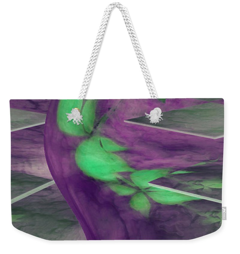 Abstracts Weekender Tote Bag featuring the digital art Insight by Linda Sannuti