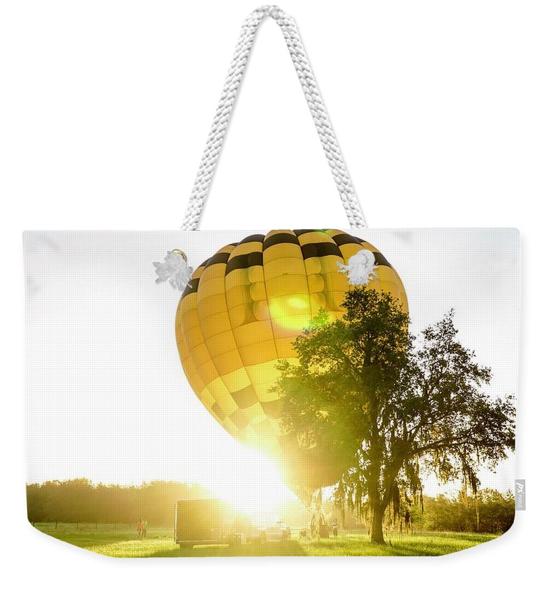 Hot Air Balloon Weekender Tote Bag featuring the photograph Insparation by Christopher Bednarly