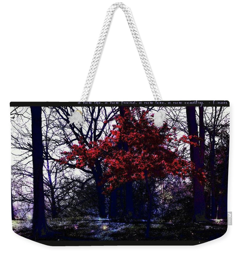 Inspiration Weekender Tote Bag featuring the photograph Inspiration 1 by Alicia Zimmerman