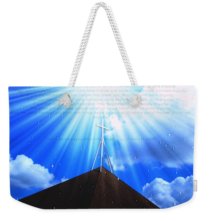 Art Weekender Tote Bag featuring the photograph Inspiration 2 by Alicia Zimmerman
