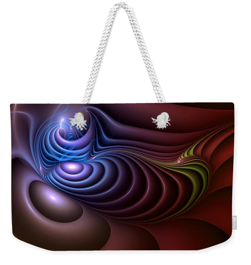 Abstract Weekender Tote Bag featuring the digital art Inspiration Out Of Inanity by Casey Kotas