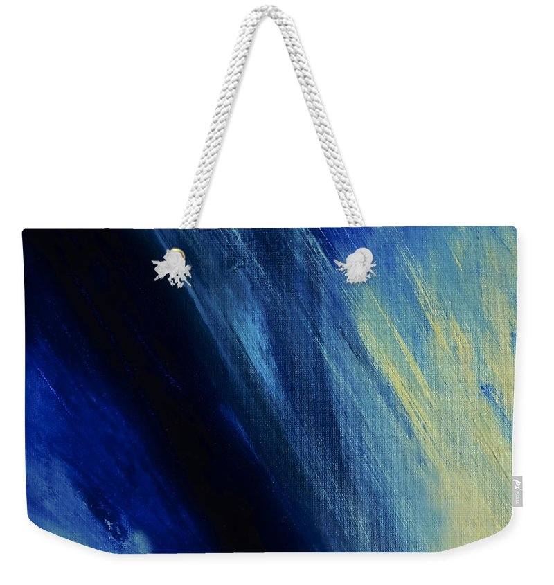 Abstract Weekender Tote Bag featuring the painting Inspirative by Dick Bourgault