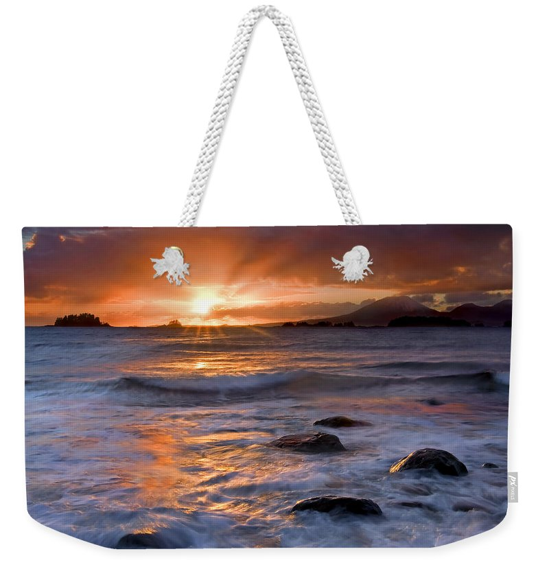 Alaska Weekender Tote Bag featuring the photograph Inspired Light by Mike Dawson
