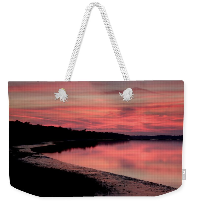 Sunset Weekender Tote Bag featuring the photograph Intense Pink by Phill Doherty