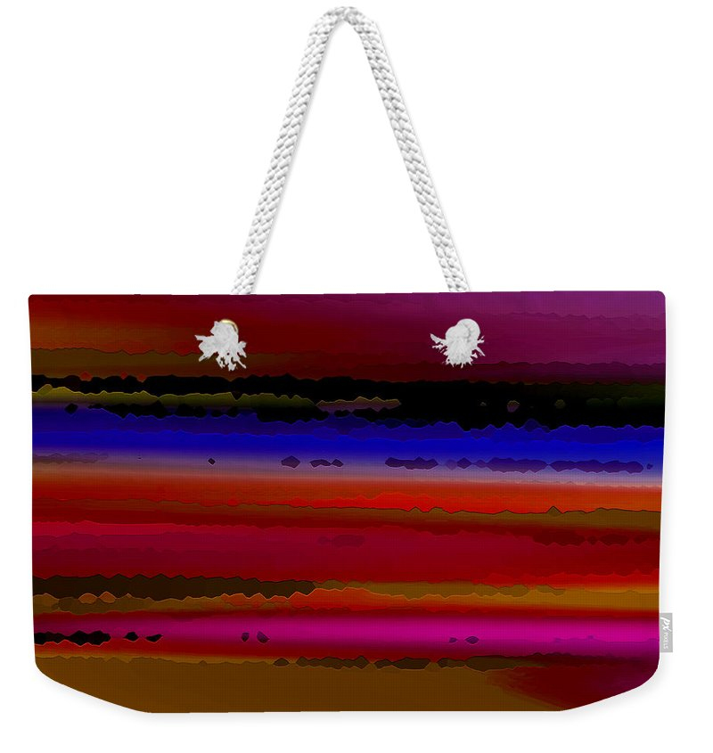 Abstract Weekender Tote Bag featuring the digital art Intensely Hued II by Ruth Palmer