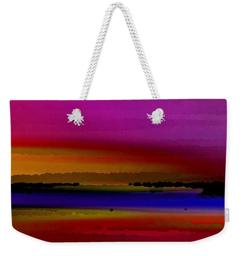 Abstract Weekender Tote Bag featuring the digital art Intensely Hued by Ruth Palmer