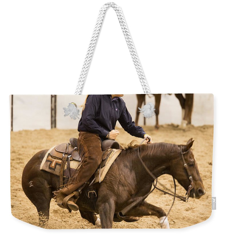 Intensity Weekender Tote Bag featuring the photograph Intensity by Lynn Sprowl