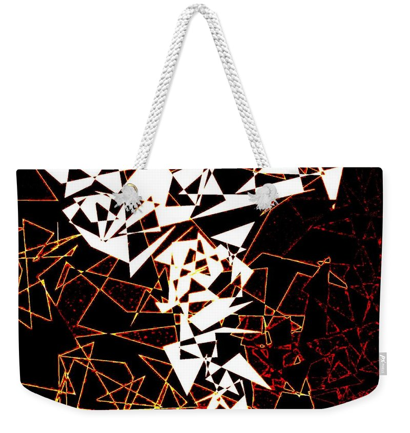 Abstract Weekender Tote Bag featuring the digital art Interaction by Will Borden