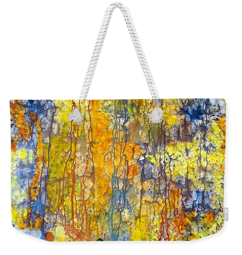 Abstract Weekender Tote Bag featuring the painting Intercessory Prayers by Ruth Palmer