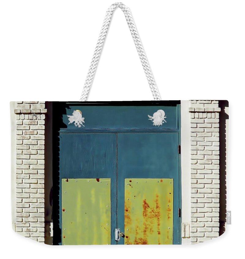 Door Weekender Tote Bag featuring the photograph Interesting Door by D Hackett
