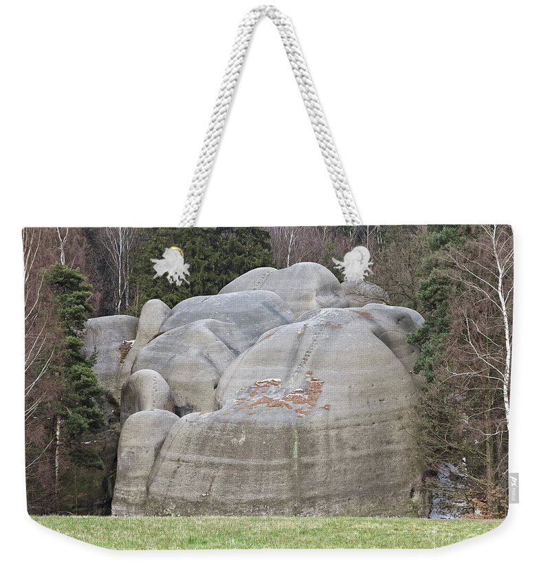 Rock Weekender Tote Bag featuring the photograph Interesting Rock Formation - Elephant Rocks by Michal Boubin