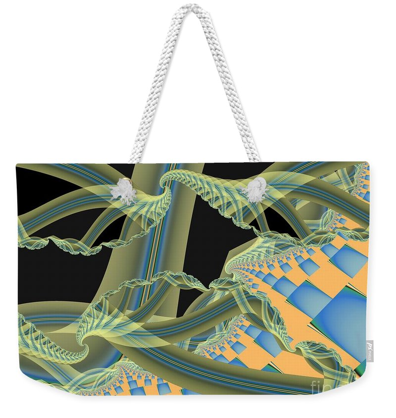 Fractal Image Weekender Tote Bag featuring the digital art Interface by Ron Bissett