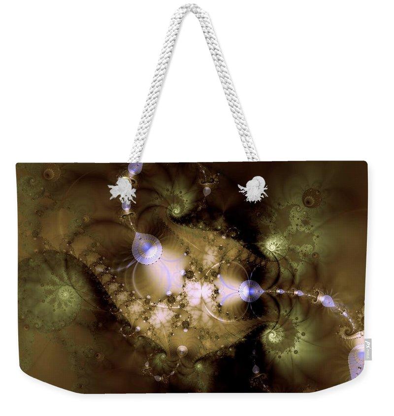 Dimension Weekender Tote Bag featuring the digital art Intergalactica by Casey Kotas