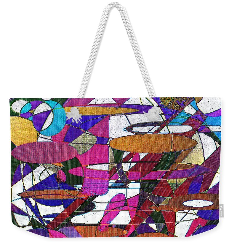 Abstract Weekender Tote Bag featuring the digital art Intergalatic by Ian MacDonald